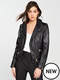 karen-millen-leather-biker-jacket