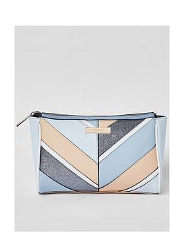 river-island-panel-zip-top-make-up-bag
