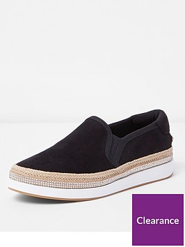 river-island-river-island-wide-fit-slip-on-plimsolls-black
