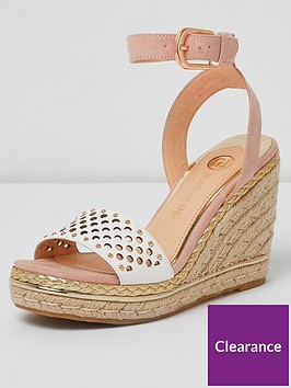 river-island-river-island-wide-fit-laser-cut-wedges-pink