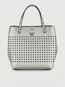 karen-millen-mini-bucket-bag-silver