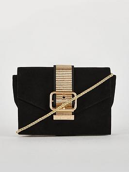 karen-millen-buckle-detail-clutch