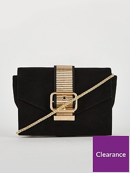 karen-millen-buckle-detail-clutch
