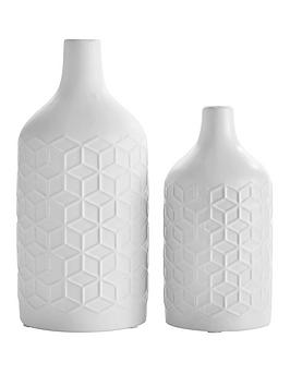ideal-home-set-of-2-matt-white-vases
