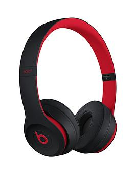 277fa04fa3f Beats by Dr Dre Solo 3 Wireless Headphones – The Beats Decade Collection,  Defiant Black-Red