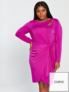 v-by-very-curve-slinky-jersey-dress-hot-pink