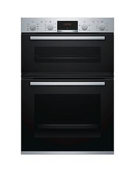 Bosch   Serie 4 Mbs533Bs0B Built In Double Oven - Stainless Steel