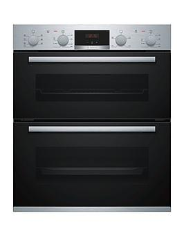 bosch-serienbsp4-nbs533bs0b-built-under-electric-double-ovennbspwithnbsp3d-hotair-stainless-steel