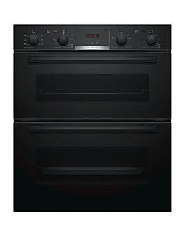 Bosch   Serie 4 Nbs533Bb0B Built Under Double Oven - Black