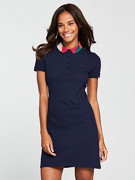 lacoste-polo-dress-with-geo-block-collar-navy-blue