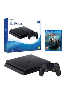 playstation-4-1tbnbspblack-slim-console-with-god-of-warnbspand-optional-extras