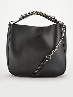 v-by-very-pansy-chain-handle-bucket-bag-black