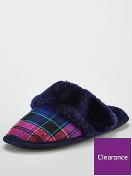 v-by-very-wren-check-mule-slipper