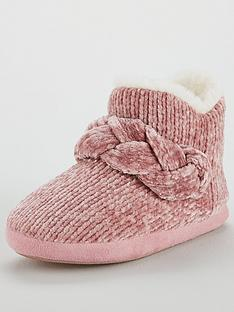 v-by-very-wendy-plait-detail-chenille-slipper-boot-pink