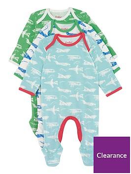 cath-kidston-baby-boys-mono-planes-3-pack-sleepsuitsnbsp--aqua