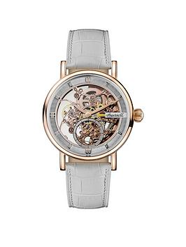 Ingersoll Ingersoll 1892 The Herald White And Rose Gold Skeleton Dial  ... Picture