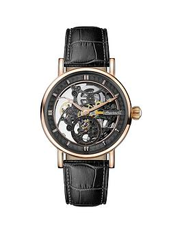 Ingersoll Ingersoll 1892 The Herald Black And Rose Gold Skeleton Dial  ... Picture