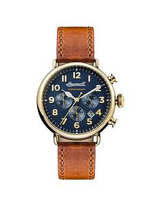 ingersoll-chronicle-the-trenton-blue-and-gold-quartz-chronograph-brown-horween-leather-strap-mens-watch