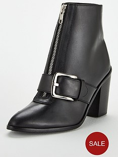 v-by-very-fleur-leather-zip-front-heel-ankle-boot-black