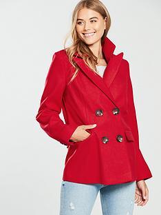 warehouse-warehouse-double-breasted-short-blazer-coat