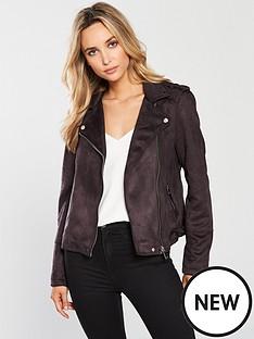 warehouse-suedette-biker-jacket