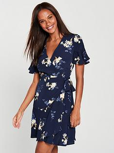 warehouse-daisy-wrap-dress