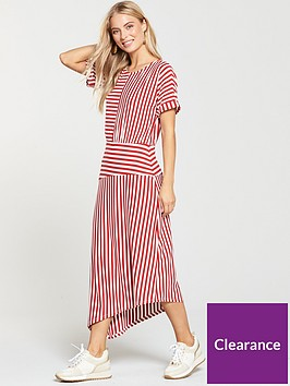 warehouse-mix-and-match-stripe-dress-red
