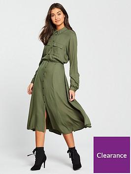 warehouse-midi-shirt-dress-khaki