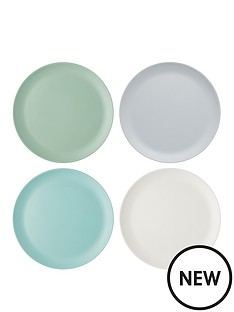 kitchen-craft-colourworks-classic-ndash-set-of-4-melamine-dinner-plates