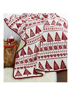 catherine-lansfield-nordic-tree-throw-red