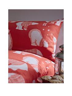 catherine-lansfield-polar-bear-fleece-christmas-duvet-cover-set