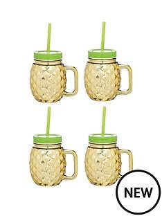 kitchen-craft-nbspbarcraft-set-of-4-pineapple-shaped-glasses