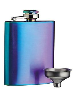 Kitchencraft Kitchencraft Barcraft 100 Ml Rainbow Finish Hip Flask Picture