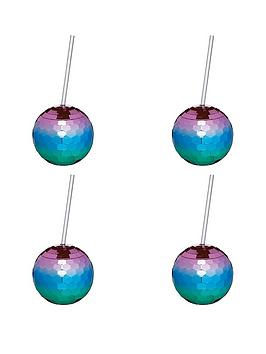 Kitchencraft Kitchencraft Barcraft Set Of 4 Disco Drinks Ball Cocktail Cup Picture