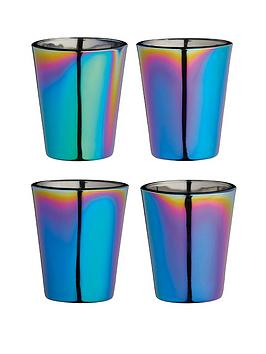 Kitchencraft Kitchencraft Barcraft Rainbow Iridescent Shot Glasses - Set  ... Picture