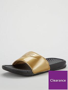 46f00245d0c0 Nike Benassi Jdi Print Slider - Black Gold