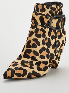 v-by-very-farida-leather-cone-heel-ankle-boot-leopard-print
