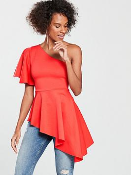 v-by-very-asymmetric-top-orange