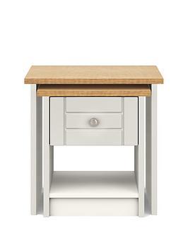 Very  Alderley Ready Assembled Nest Of Tables - Grey/Oak Effect