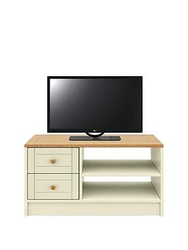 Very  Alderley Ready Assembled Tv Unit - Cream/Oak Effect - Fits Up To 50 Inch Tv