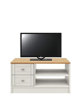 Very  Alderley Ready Assembled Tv Unit - Grey/Oak Effect - Fits Up To 50 Inch Tv