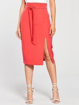 oasis-high-waist-pencil-skirt-coralnbsp