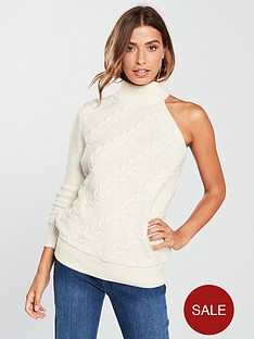 v-by-very-one-shoulder-cable-detail-jumper-oatmeal