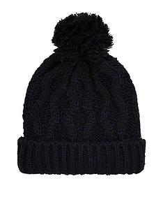 v-by-very-navy-cable-bobble-hat