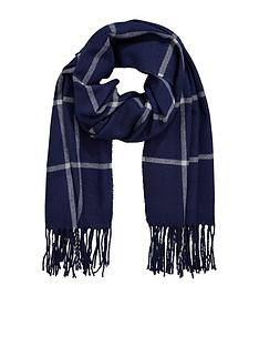 v-by-very-navy-check-scarf