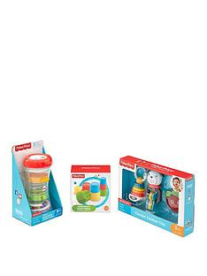 fisher-price-fisher-price-3-pack-bundle-clacker-teetherbuilding-beakerstumble-tower