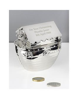 personalised-silver-noahs-ark-money-box