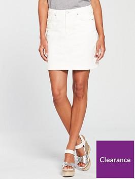 2e1103ca56c920 V by Very Denim Skirt - White   littlewoods.com