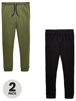 v-by-very-boys-pack-of-2nbspspray-on-skinny-fit-joggers-khaki-and-black