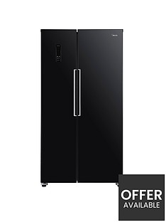 swan-sr15640b-total-no-frost-90cm-american-style-fridge-freezer-black